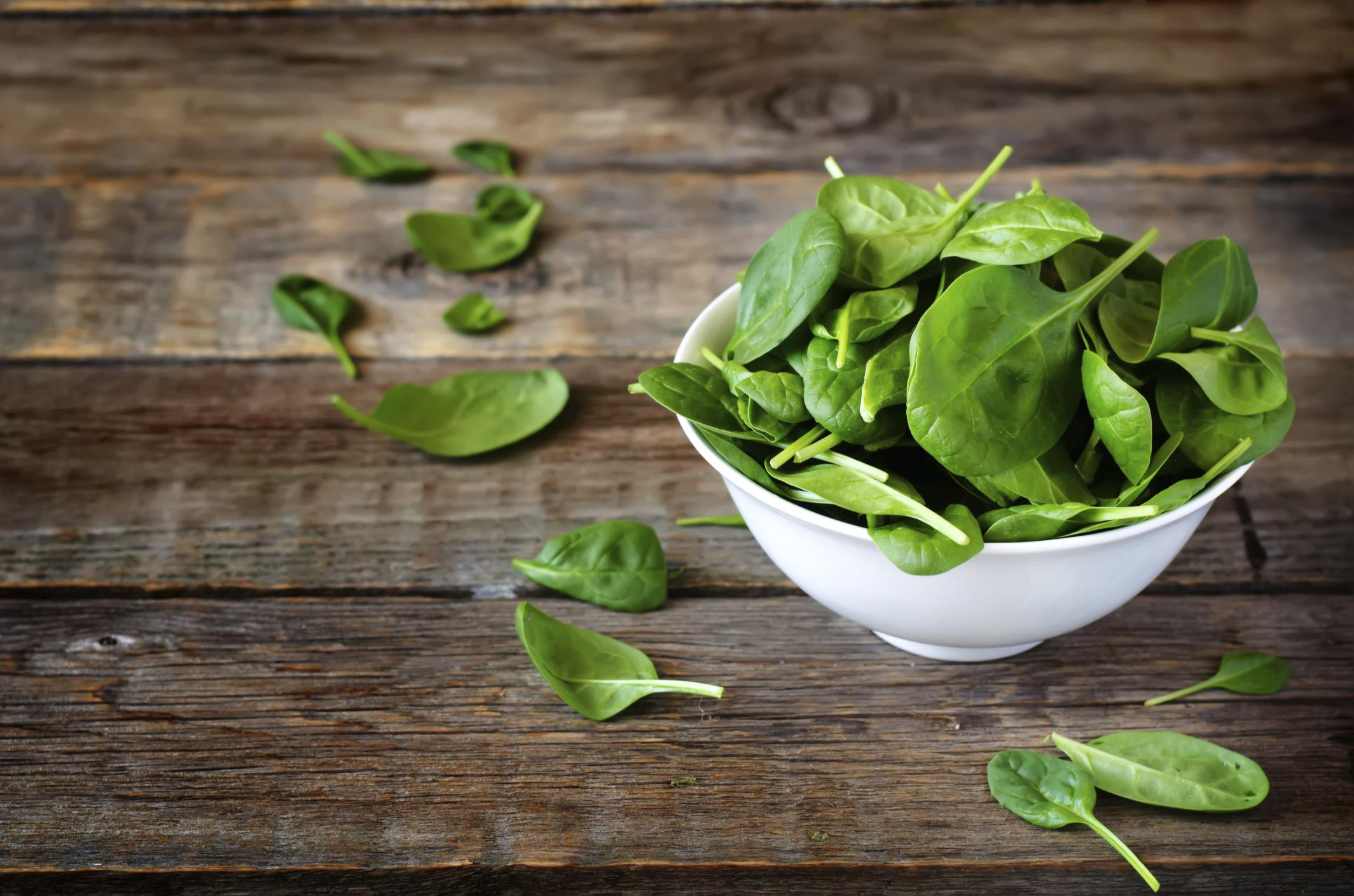 Frischer Spinat - lecker und gesund
