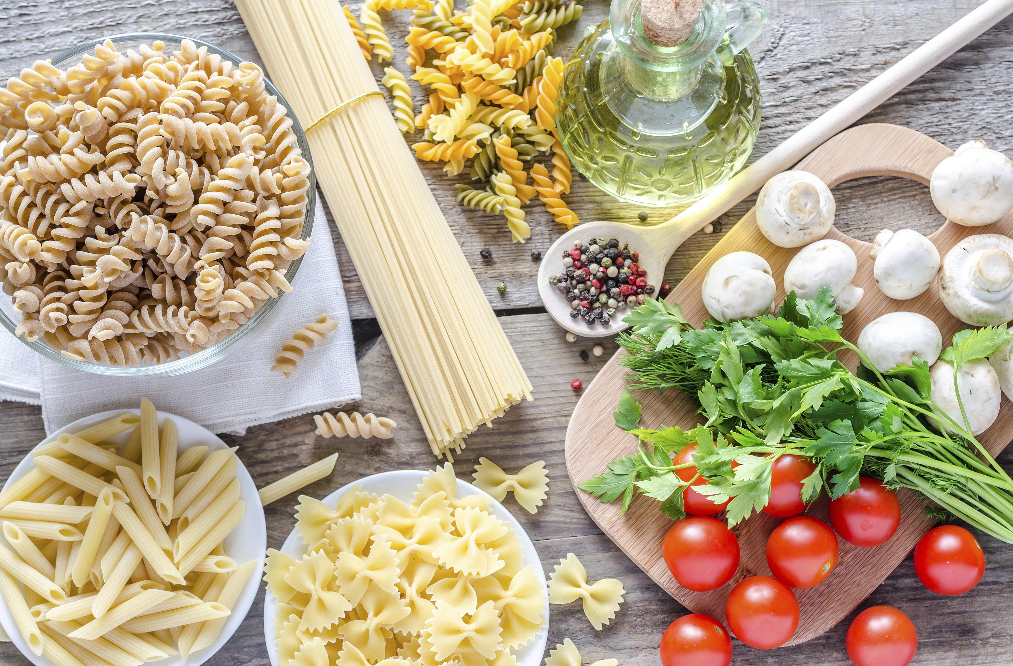 Frisches Gemüse und beste Pasta