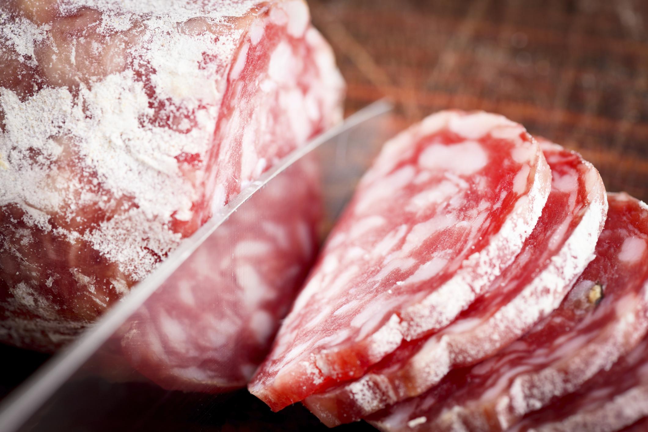 Grobe italienische Salami