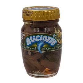 Filetti di Alici con Caperi in Olio di Oliva 90 g
