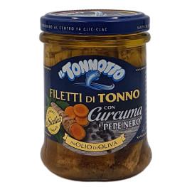 Filetti di Tonno con Curcuma e Pepe Nero in Olio di Oliva 200 g