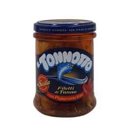 Filetti di Tonno con Peperoncino in Olio di Oliva 190 g