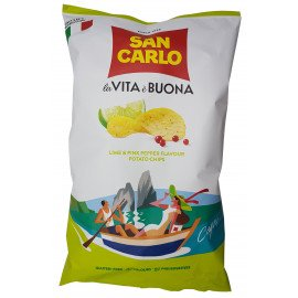 Chips Più Gusto Lime & Pink Pepper Capri 150 g