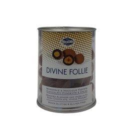 Divine Follie Mandorle e Nocciola Cioccolato Fondente e Cacao 150 g